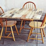 Pallet Dining Table with Hairpin Legs