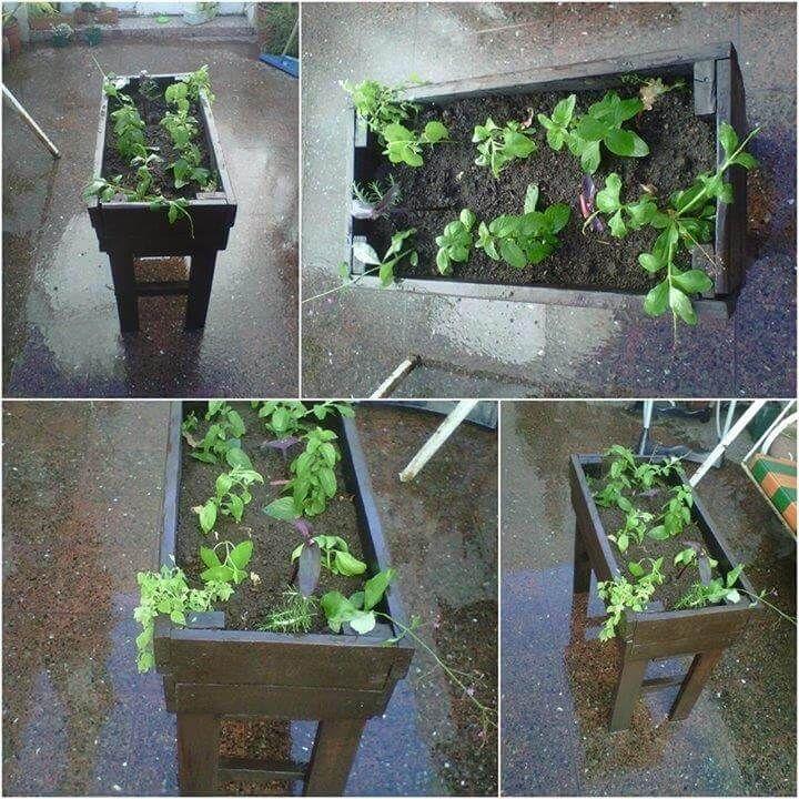 handmade pallet garden planter