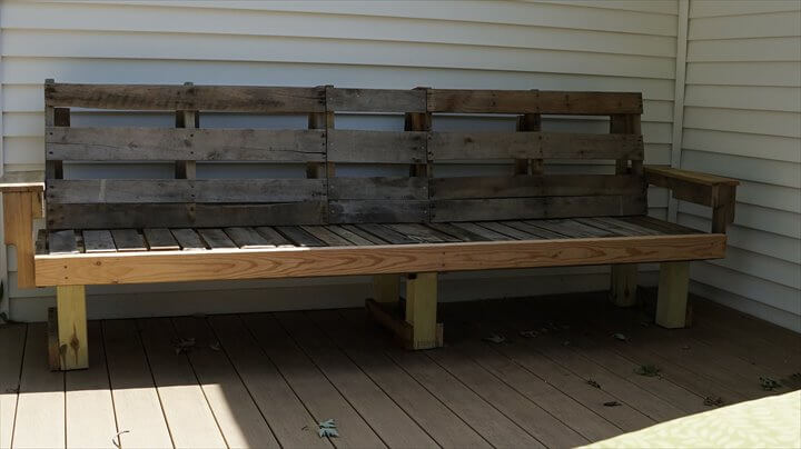 handcrafted pallet lounge sofa