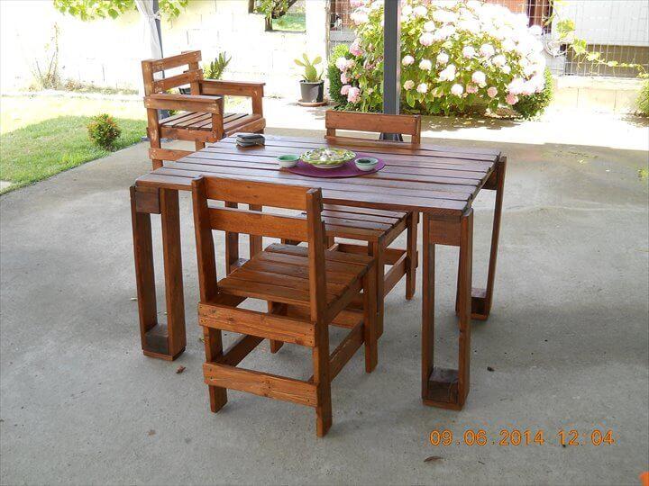 repurposed pallet dining furniture