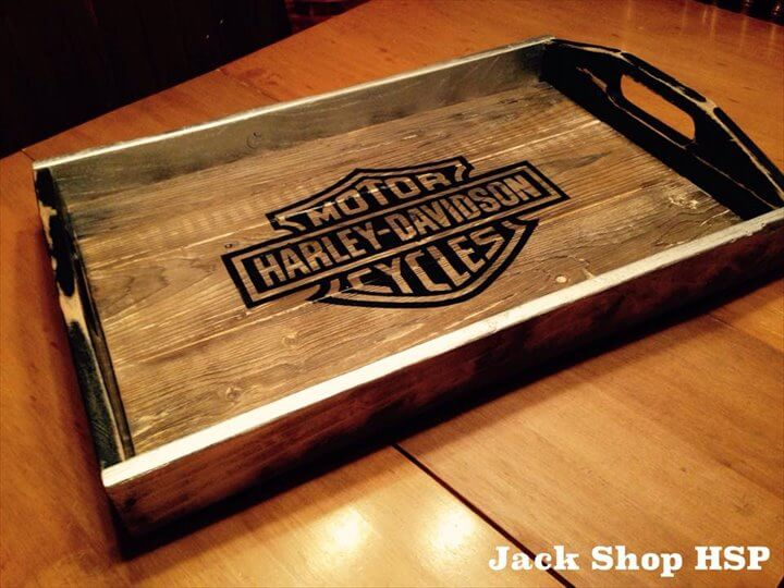 wooden pallet rustic tray