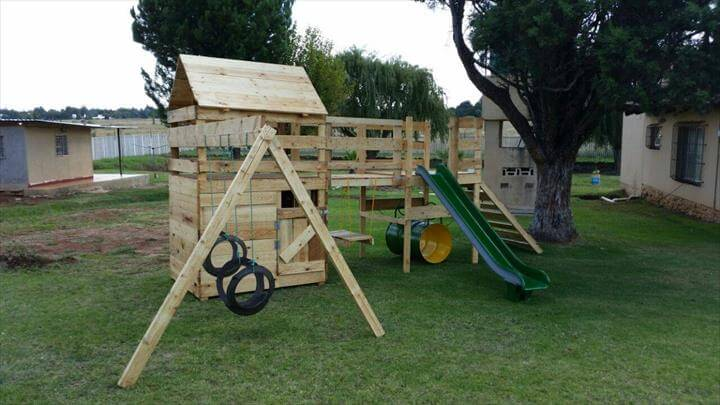 jungle gym kids playhouse diy wooden pallet playhouse for kids diy