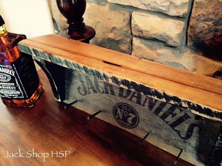 upcycled pallet coat rack with decorative mantle