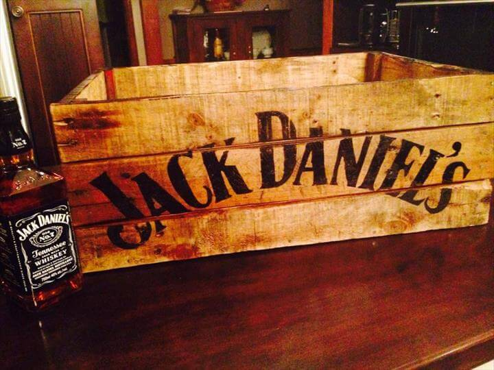 wooden pallet beverage box and crate