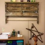 Rustic Pallet Shelf and Towel Rack
