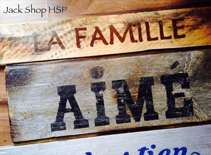 wooden pallet custom wall sign