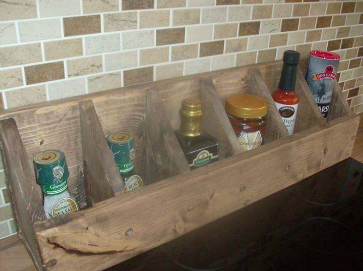 handcrafted pallet wood caddy