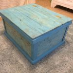 DIY Distressed Aqua Blue Chest