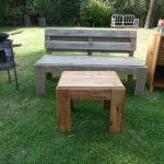 Pallet Lawn Bench and Coffee Table