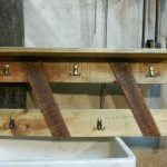 DIY Pallet Coat Rack and Shelf