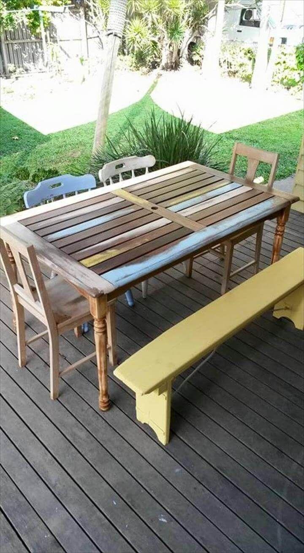 pallet revamped dining furniture set 99 pallets