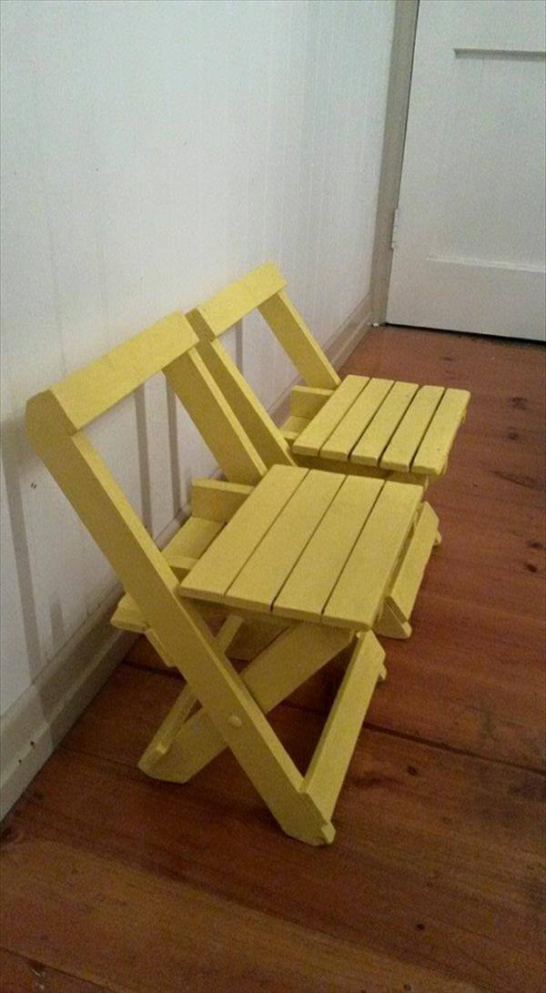 repurposed pallet folding straight chairs