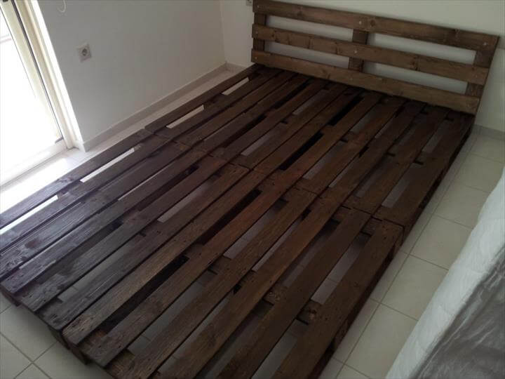 Platform Bed Made From Pallets 99 Pallets