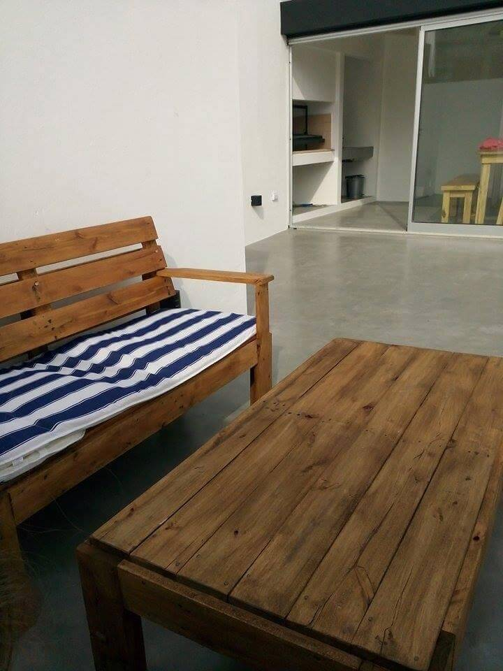 upcycled pallet terrace furniture