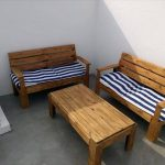 DIY Outdoor Pallet Furniture for Terrace