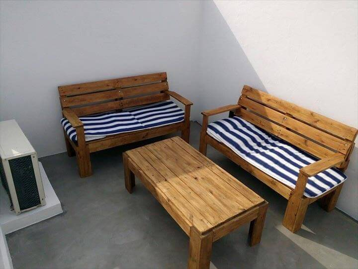 Diy Outdoor Pallet Furniture For Terrace 99 Pallets