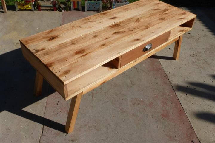 DIY Pallet Wood Coffee Table TV Stand 99 Pallets