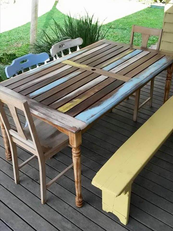 diy pallet outdoor dinning table. repurposed pallet patio dining furniture set diy outdoor dinning table a