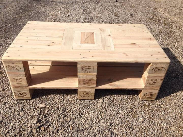 recycled 2 whole pallet coffee table