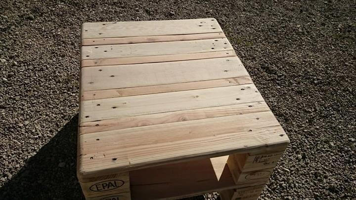 recycled pallet coffee table and media stand with storage