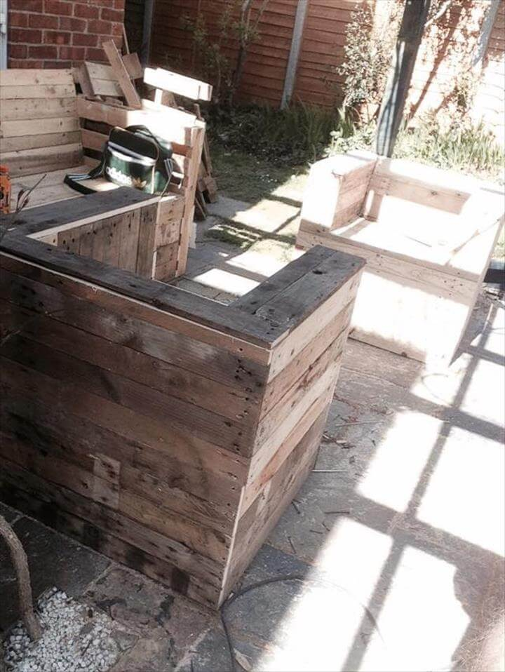 upcycled pallet sturdy chair