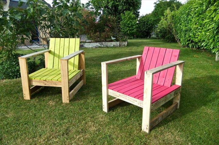 recycled pallet outdoor chairs
