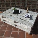Distressed White Pallet Coffee Table