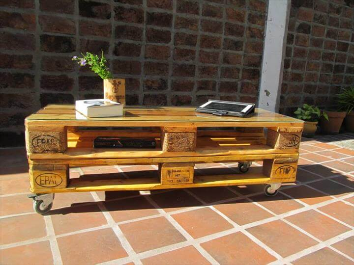 upcycled pallet cozy coffee table