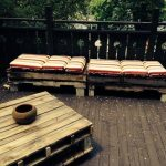 Rustic Patio Furniture Made of Pallets