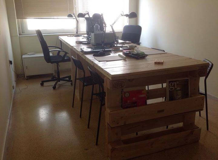 Hand Made Desk wood pallet office computer desk | 99 pallets