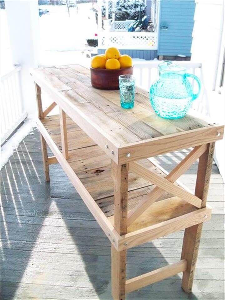 repurposed pallet wood table