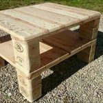 Raised Pallet Coffee Table or Media Stand