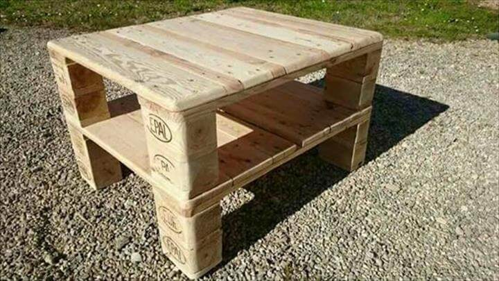 handmawooden pallet coffee able