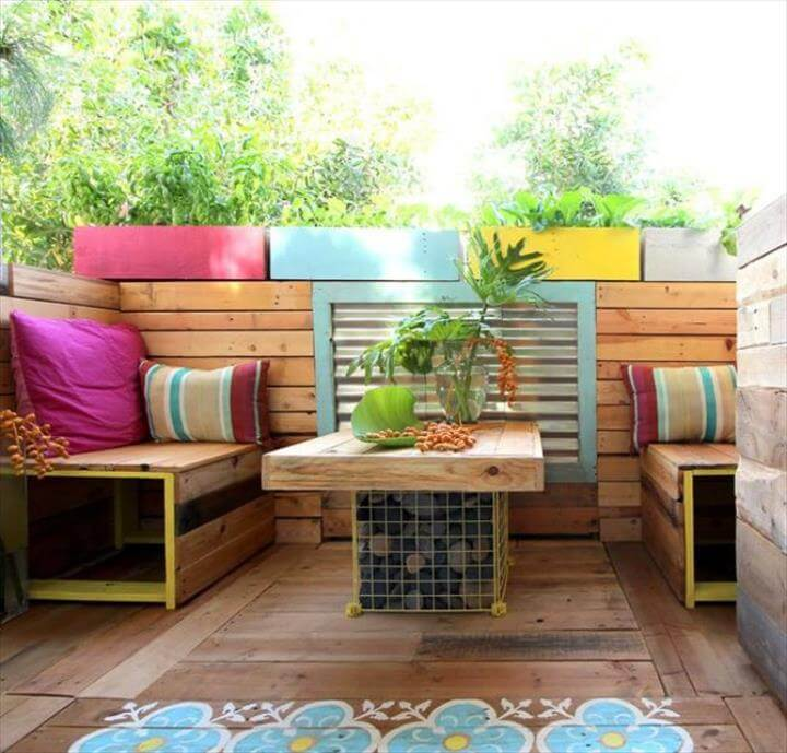 pallet deck and terrace furniture
