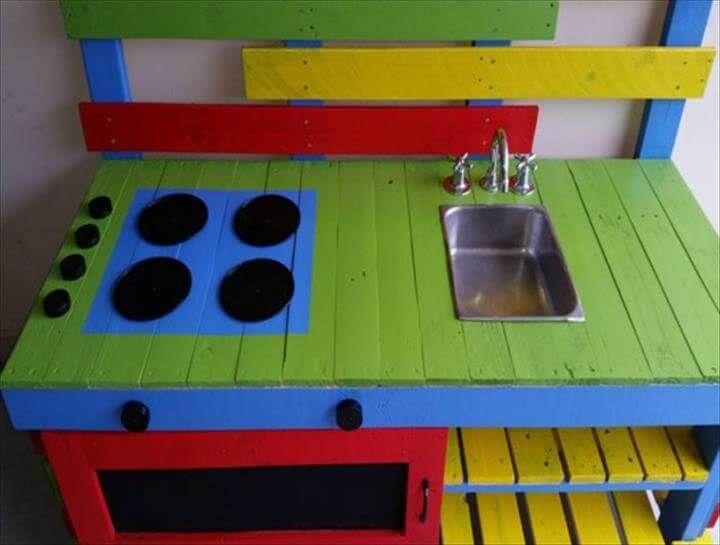 reclaimed pallet kids kitchen