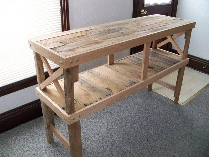 diy pallet 2 tiered table