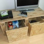 Pallet TV Stand with Plywood Drawers