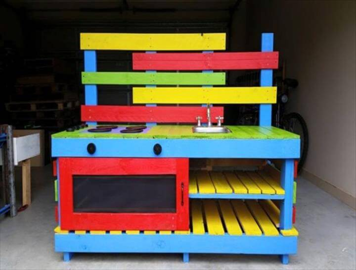 upcycled pallet kitchen for kitchen