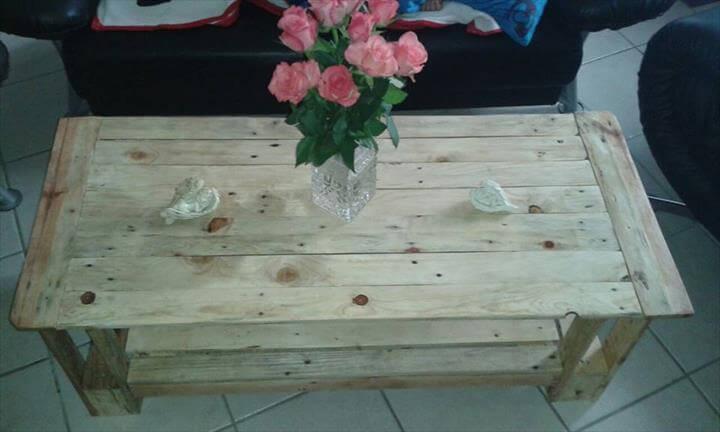 upcycled pallet no-cost coffee table