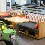 DIY Pallet Coffee and Food Shop Furniture