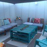 DIY Pallet Sofa and Aqua Table