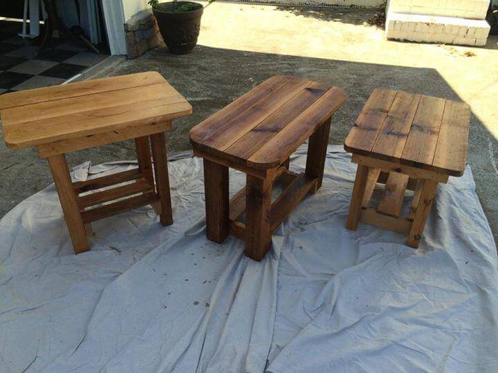 reclaimed pallet tables