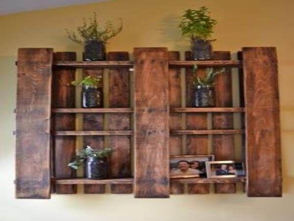 Pallet shelves for kitchen pallet kitchen spice rack and towel