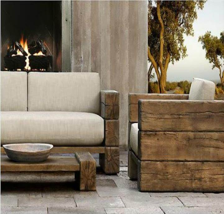 ultra rustic vintage inspired pallet patio furniture