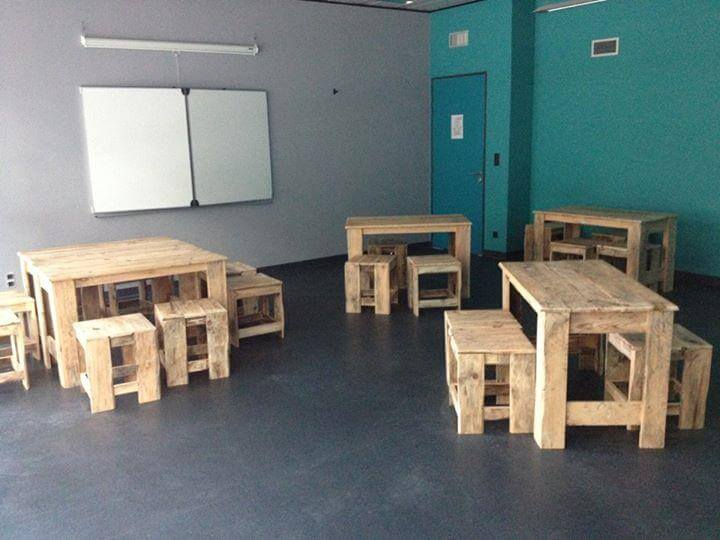 rustic yet modern pallet classroom furniture