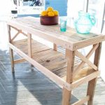 Pallet Table – Pallet Buffet and Kitchen Island