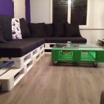 Pallet Living Room L-Sofa with Table