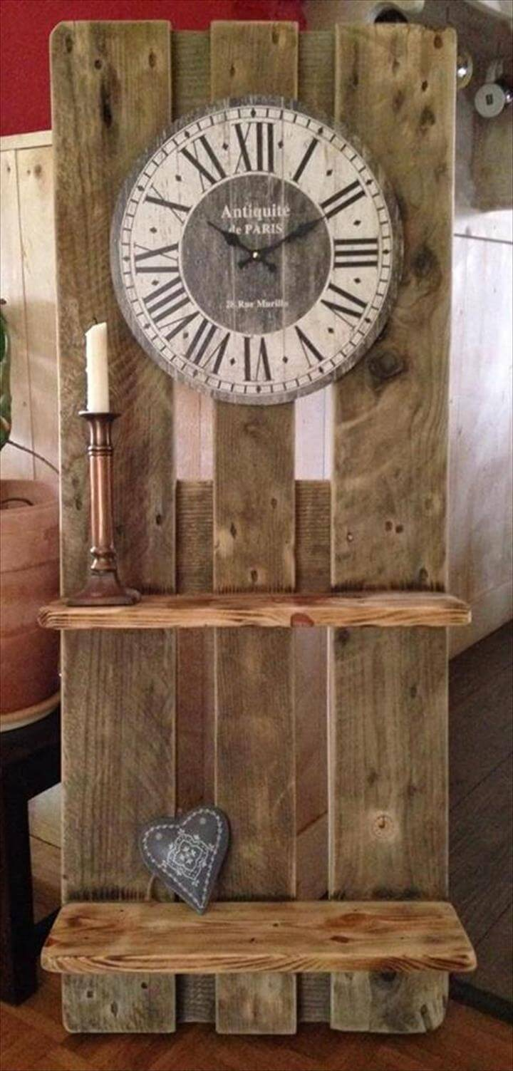 Inspired Antique Wood Pallet Clock 99 Pallets