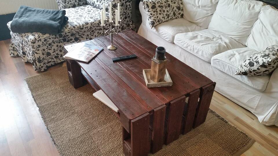 salvaged pallet choco coffee table