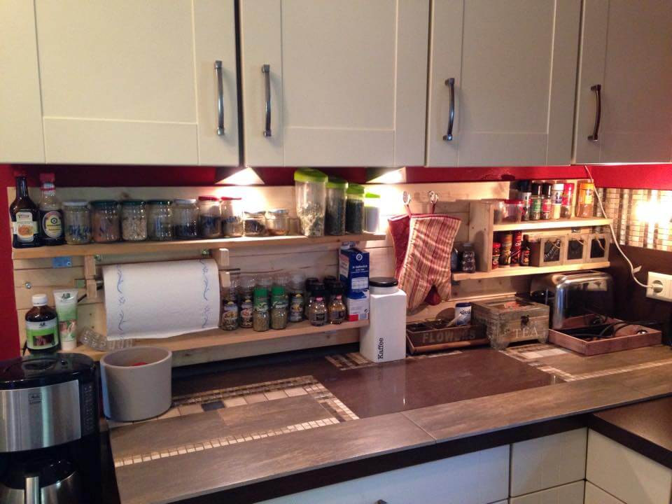 recycled pallet kitchen shelving and racking